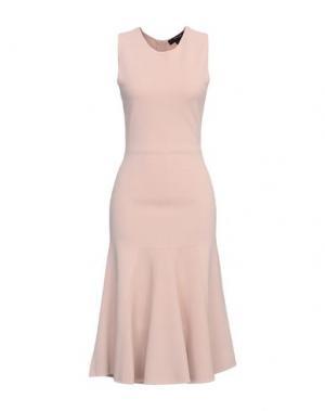 Платье до колена TY-LR. Цвет: бежевый