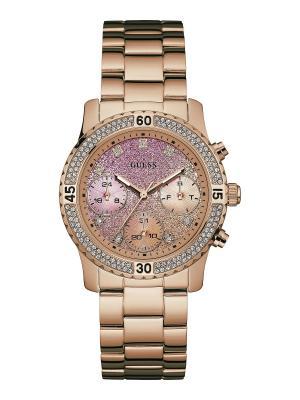 Часы GUESS. Цвет: розовый, золотистый
