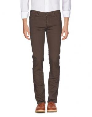 Повседневные брюки TELERIA ZED. Цвет: светло-коричневый