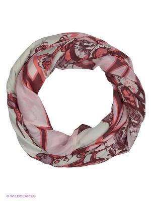 Платок Labbra. Цвет: бордовый, бледно-розовый, молочный
