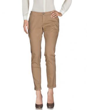 Повседневные брюки RE-HASH. Цвет: светло-коричневый