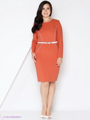 Платье КАЛIНКА. Цвет: терракотовый