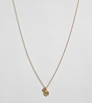 ASOS Позолоченное серебряное ожерелье в винтажном стиле с подвесками D. Цвет: золотой