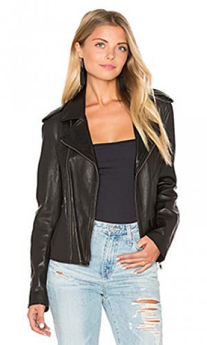 Куртка vintage mc June. Цвет: черный