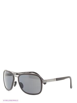 Солнцезащитные очки Porsche Design. Цвет: темно-коричневый