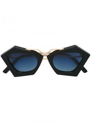 Солнцезащитные очки Frida Kyme. Цвет: чёрный