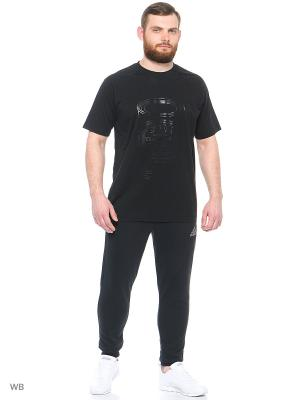 Футболка спортивная Adidas. Цвет: черный