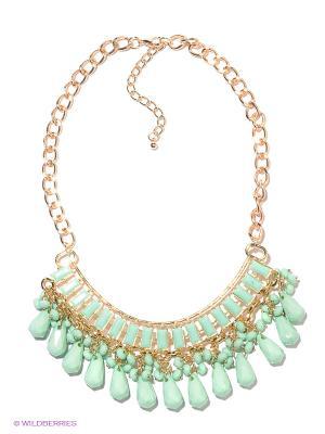 Колье Lovely Jewelry. Цвет: золотистый, светло-зеленый