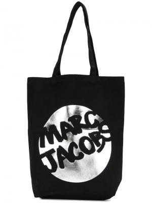 Парусиновая сумка с логотипом Marc Jacobs. Цвет: чёрный