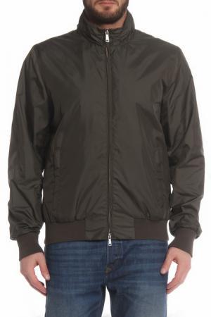 Свободная куртка с застежкой на молнию SEVENTY. Цвет: темно-зеленый