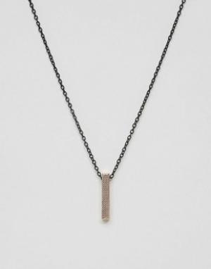 Icon Brand Ожерелье с подвеской‑планкой. Цвет: золотой