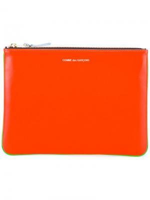 Кошелек Super Fluo Comme Des Garçons Wallet. Цвет: жёлтый и оранжевый