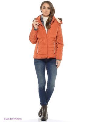 Куртка TOM TAILOR. Цвет: оранжевый