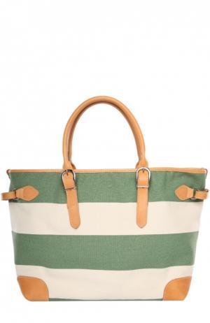 Пляжная сумка Bonfanti. Цвет: зеленый