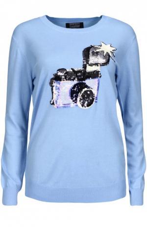 Вязаный свитер Markus Lupfer. Цвет: голубой