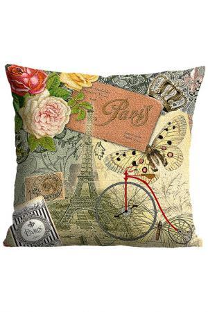 Подушка Парижские мотивы GiftnHome Gift'n'Home. Цвет: желтый