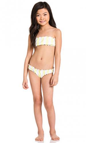 Хрустящий комплект бикини darling babykini lolli swim. Цвет: желтый