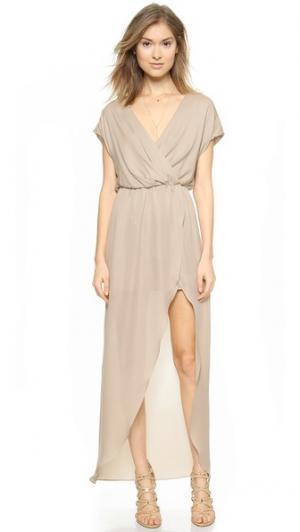 Вечернее платье с запахом Plaza Rory Beca. Цвет: голубой