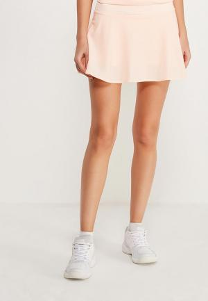 Юбка-шорты Nike. Цвет: коралловый