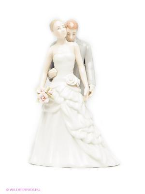 Статуэтка Молодожены Pavone. Цвет: кремовый, светло-серый