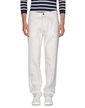 Джинсовые брюки NICOLAS & MARK. Цвет: слоновая кость