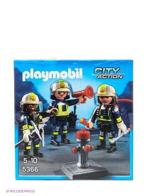 Команда пожарных Playmobil. Цвет: голубой