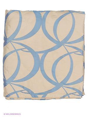 Покрывало Blu collection 220х240 см. В комплекте с декоративными наволочками 50х70 см T&I. Цвет: бежевый, синий