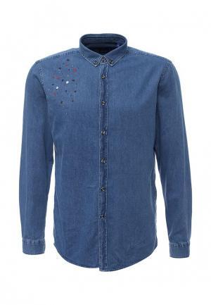 Рубашка джинсовая Joop!. Цвет: синий