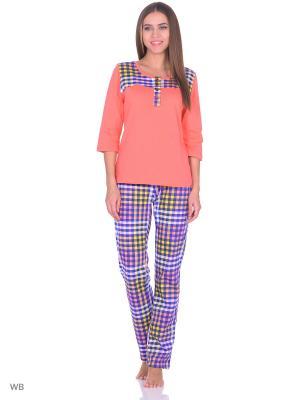 Комплект домашней одежды ( кофта, брюки) HomeLike. Цвет: персиковый