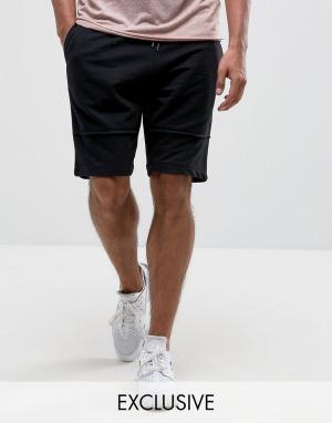 Brooklyn Supply Co. Трикотажные шорты с декоративными швами Co. Цвет: черный