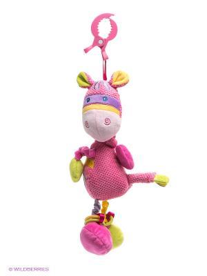 Развивающая игрушка подвеска Коровка Жирафики. Цвет: розовый, салатовый