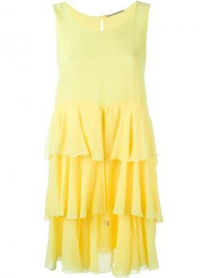 Платье с оборками Ermanno Scervino. Цвет: жёлтый и оранжевый