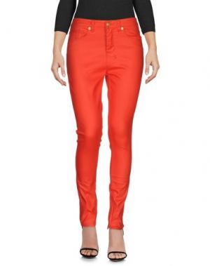 Джинсовые брюки KSUBI. Цвет: красный