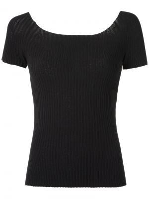 Knitted off the shoulder top Martha Medeiros. Цвет: чёрный
