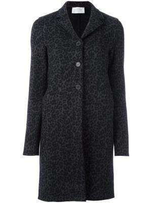 Пальто с анималистическим узором Harris Wharf London. Цвет: серый