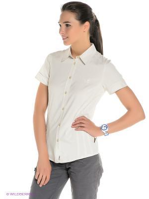 Рубашка TRACK SHIRT WOMEN Jack Wolfskin. Цвет: молочный