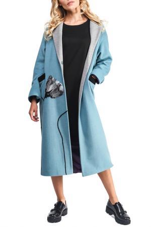 Пальто Yukostyle. Цвет: бирюзовый