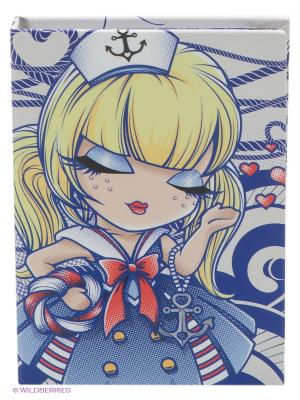 Карманный блокнот с ручкой Морячка Салли Kimmidoll. Цвет: синий, желтый, красный