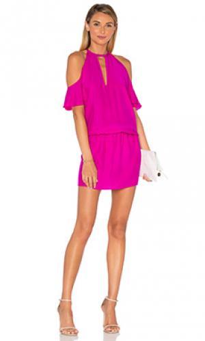 Платье celia Amanda Uprichard. Цвет: розовый