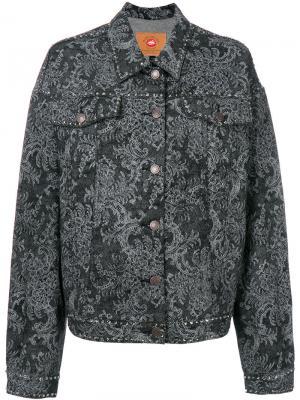 Джинсовая куртка с кристаллами Marc Jacobs. Цвет: серый