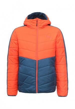 Куртка утепленная PUMA. Цвет: оранжевый
