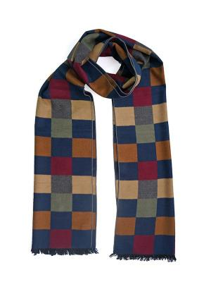Мужской шарф LANYINGDI ША-33 30*180 100% шелк. Цвет: синий, рыжий, серый