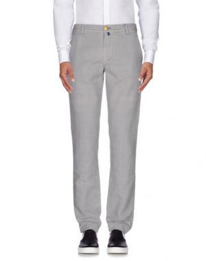 Повседневные брюки LUIGI BORRELLI NAPOLI. Цвет: серый