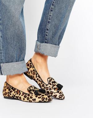 Park Lane Замшевые туфли на плоской подошве с кисточками. Цвет: мульти