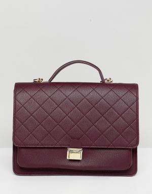 Marc B Бордовый рюкзак. Цвет: красный