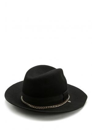 Шляпа из шерсти 177450 Anna Rita N. Цвет: черный
