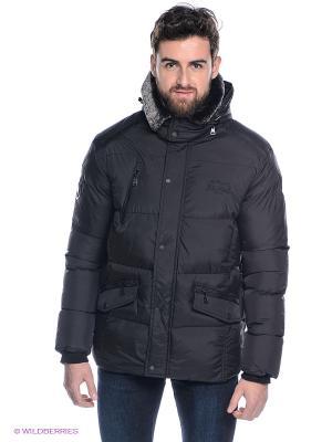 Куртка Lonsdale. Цвет: черный