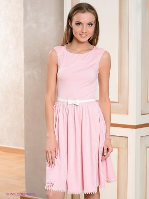 Платье V&V. Цвет: розовый