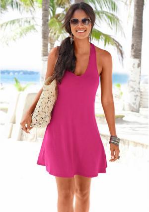 Пляжное платье. Цвет: бирюзовый