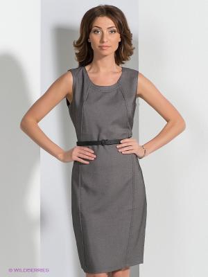 Платье QUIOSQUE. Цвет: черный, серый